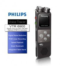PHILIPS VTR6900 Digital Voice Recorder 8GB With PCM Recording, Speed Playback And Smart Bookmark
