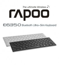 RAPOO E6350 Bluetooth Wireless Keyboard Multimedia Ultra Slim Mini Keyboard for Windows / Android / IOS / PC / Smart Phones
