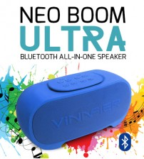 Vinnfier Neo Boom Ultra Bluetooth All-In-One Speaker With Dual Bass Reflector