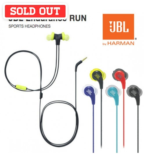 JBL Endurance Run Sweatproof Wired Sports Sport Gym Jogging Running In-Ear Headphones