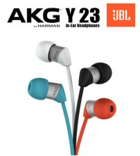 AKG Y23 Ultra Small Wired In Ear Stereo Headphones With Universal Mic / Remote By JBL Harman