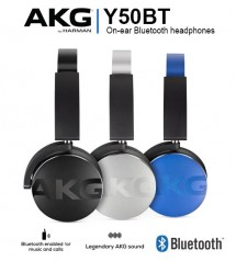 AKG Y50BT On-Ear Bluetooth Wireless Legendary AKG Sound Headphones