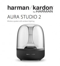 Harman Kardon Aura Studio 2 Wireless Bluetooth Home Speaker System With Ambient Lighting