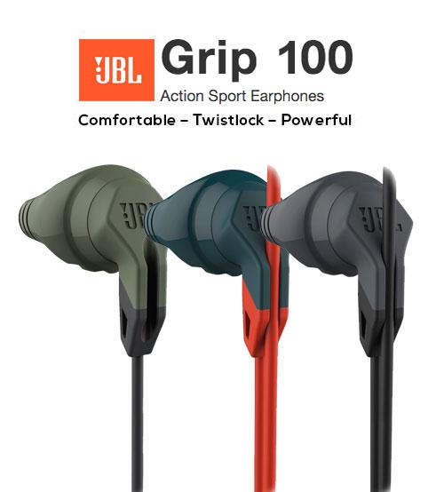 JBL Grip 100 Action Sport In-Ear Headphones Audios
