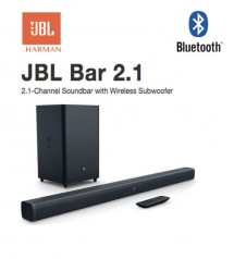 JBL Bar 2.1 Channel Soundbar with Wireless Subwoofer with remote control