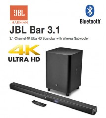 JBL Bar 3.1 Channel 4K Ultra HD Soundbar with Wireless Subwoofer