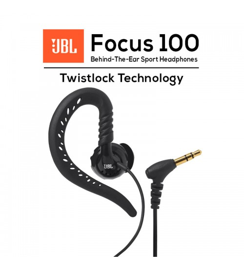 JBL Focus 100 Behind-The-Ear, Wired Sport Headphones with Twistlock Technology