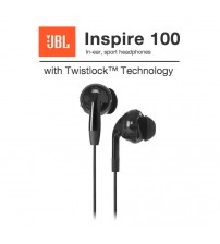 JBL Inspire 100 In-ear Sport Sweatproof Wired Headphones with Twistlock Technology
