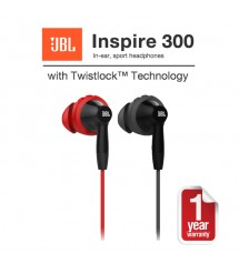 JBL Inspire 300 In-ear Sport Headphones with Mic & Twistlock Technology