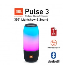 JBL Pulse 3 Wireless Waterproof Portable Bluetooth Speaker With Interactive LED Light Show