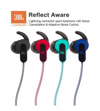 JBL Reflect Aware Lightning Connector Sport Wired Earphone With Noise Cancellation & Adaptive Noise Control