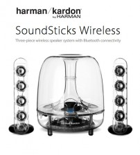 Harman Kardon SoundSticks Three-Piece Wireless Speaker System With Bluetooth Connectivity