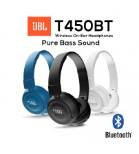 JBL T450BT Pure Bass Sound Wireless Bluetooth On-Ear Headphones
