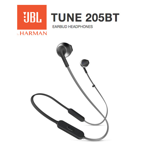 JBL Tune 205BT Wireless Pure Bass Sound Earbud Headphones