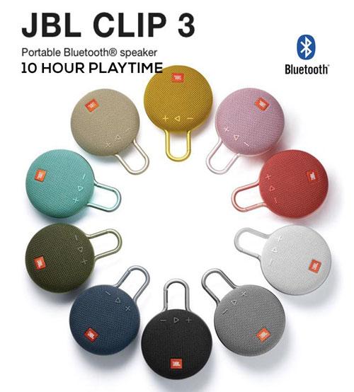 JBL Clip 3 Portable IPX7 Waterproof Wireless Bluetooth Speaker