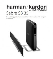 Harman Kardon Sabre SB 35 Devastatingly Slim Home Entertainment Soundbar With Compact Subwoofer