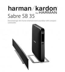 Harman Kardon Sabre SB 35 Devastatingly Slim Home Entertainment Soundbar With Compact Subwoofer
