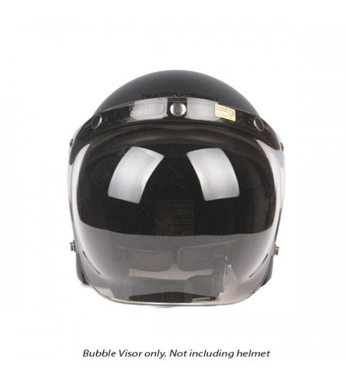 Cafe Racer Vintage Bubble Motorcycle Helmet Visor Shield Screen With Flip Anti UV Smoke