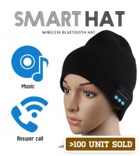 Wireless Bluetooth Smart Hat Warm Cap Headset Headphone Speaker Mic