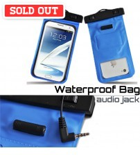 Waterproof Bag with Audio Jack for Smartphones