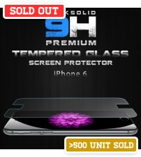 Rock Solid 9H Premium Light Weight 0.3mm Tempered Glass Screen Protector For iPhone 6 / iPhone 6 Plus