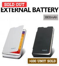Power Case 3800mAh External Battery Flip Case For Samsung Galaxy Note 3