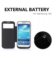 Power Case 3200mAh Sneak View External Battery Flip Case For Samsung Galaxy S4