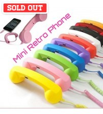 Mini Retro Handset Phone For Mobile Gadgets
