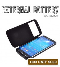 Power Case 4500mAh Sneak View External Battery Flip Case For Samsung Galaxy Mega 6.3