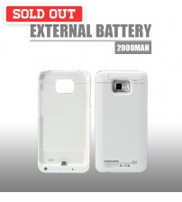Power Case 2000mAh External Battery Back Case For Samsung Galaxy S2