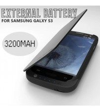 Power Case 3200mAh External Battery Flip Case For Samsung Galaxy S3