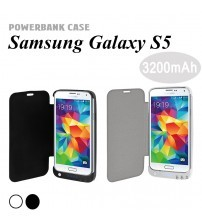 Power Case 3200mAh External Battery Flip Cover For Samsung Galaxy S5