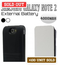 Power Case 4000mAh External Battery Flip Case For Samsung Galaxy Note 2