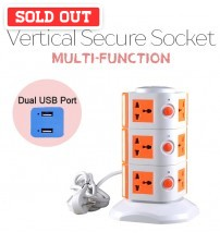 Vertical 3 Layers Multi-Function Tower Socket With 3000W Max Current