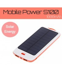 DBK Mobile Solar Powered Series S100 for Mobile Devices with 10000mAh