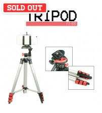 4 Section Aluminium Legs Camera / Mobile Gadgets Tripod With Clip Holder Maximum Length 1020mm
