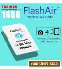 TOSHIBA FlashAir Wifi Wireless LAN SDHC Memory Card 16GB