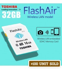 TOSHIBA FlashAir Wifi Wireless LAN SDHC Memory Card 32GB