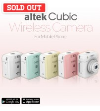 Altek Cubic Smart Mini WIreless Camera for Mobile Phone + SanDisk Ultra 16GB Micro SD Card