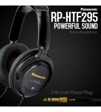 Panasonic RP-HTF295 Powerful Sound Stereo Headset with 24K Gold Plated Plug