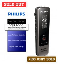 PHILIPS VTR5000 Digital Voice Recorder 4GB with Noise Reduction Function