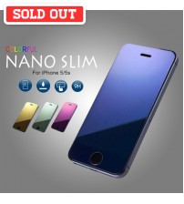 Colorful Nano Slim Tempered Glass Mirror Screen Protector for iPhone 5/5s