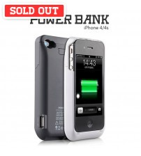 Power Case 3000mAh External Battery Back Case For iPhone 4/4s