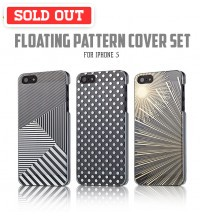 +Simplism Floating Pattern Cover Set with Protector Film for iPhone 5 / 5S
