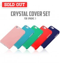 +Simplism Crystal Cover Set with Protector Film for iPhone 5/5s