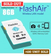 TOSHIBA FlashAir Wifi Wireless LAN SDHC Memory Card 8GB