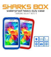 Shark Box Colorful Waterproof Case for Samsung Galaxy Note 4