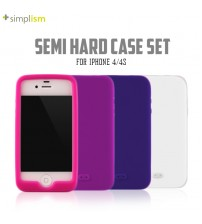 +Simplism Semi Hard Case Set with Protector Film for iPhone 4/4s
