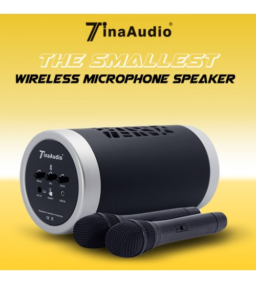 Tina Audio The Smallest Bluetooth Wireless Microphone Karaoke Speaker