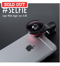 #Selfie Super Wide Angle Photo Lens Clip On 0.4x for Smartphone